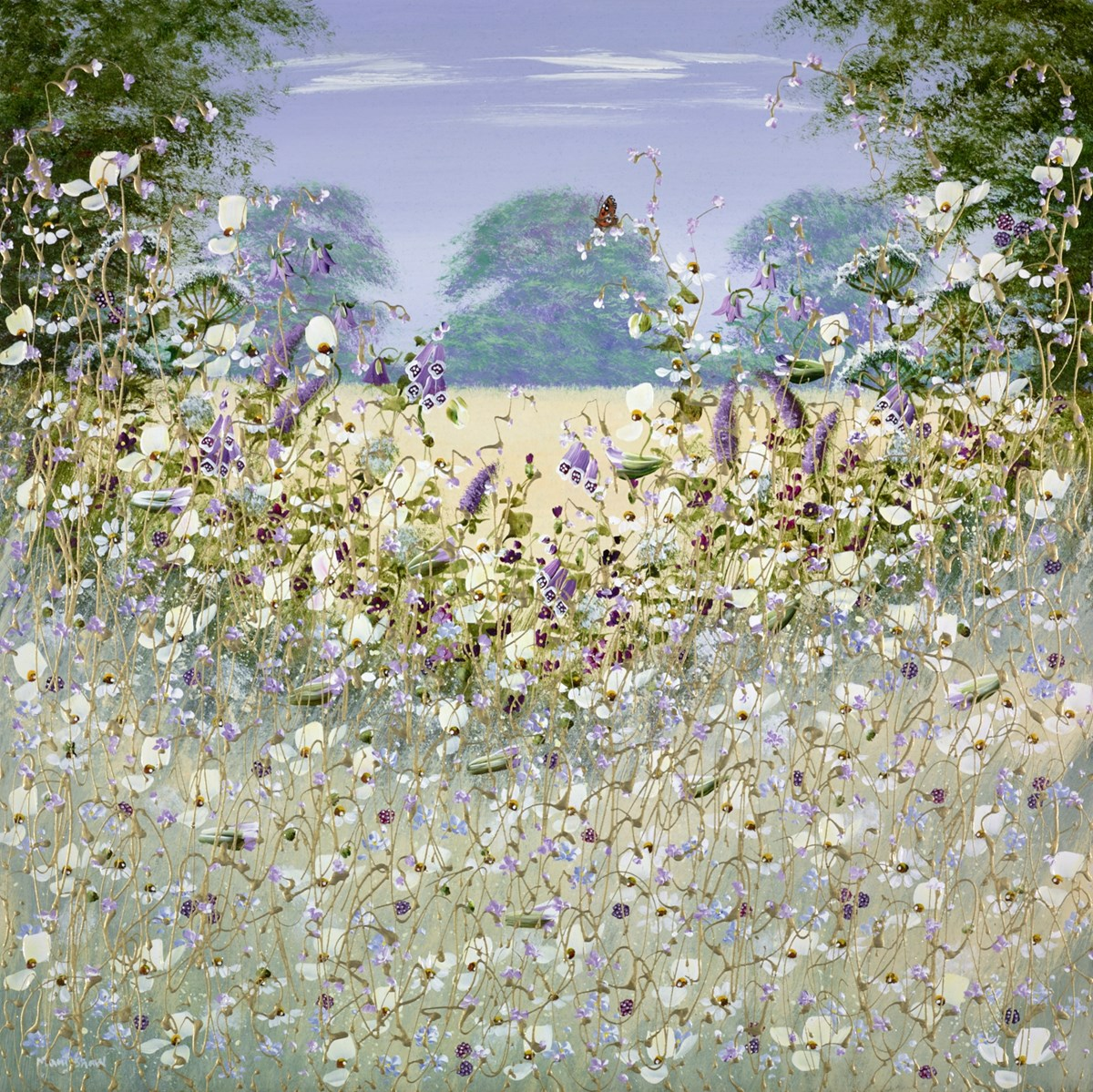 Little Butterfly II by mary shaw -  sized 30x30 inches. Available from Whitewall Galleries